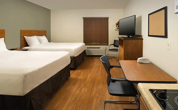 Extended Stay Hotel Room And Features Woodspring Suites